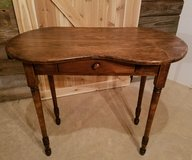 "Beautiful kidney shaped table/desk.  Solid wood 18"" at the widest point of top, 30.5 "" Tall and ... in Aurora, Illinois"