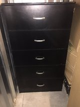 (2) 5-Drawer Black Dressers in Fort Campbell, Kentucky
