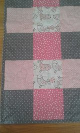 Pink and Gray Colorful Bird Baby Girl Quilt in Fort Lewis, Washington