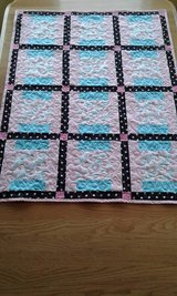 Colorful Bird Pink and Black Polka Dot Baby/Toddler Girl Quilt in Fort Lewis, Washington