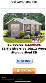 E-Z Fit shed 10 x 12 in Plainfield, Illinois
