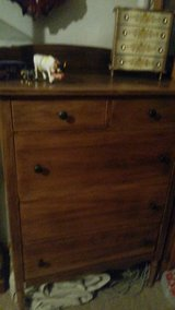 , RARE  PIECE OF leavenworth' history.,,,Abernathy furniture company.  'tall boy dresser'      o... in Fort Leavenworth, Kansas