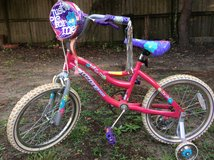 "Girl's 18"" bike w/ training wheels Ozone Just for me in Warner Robins, Georgia"