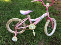 "Girl's 16"" Huffy Princess bike w/ training wheels in Warner Robins, Georgia"