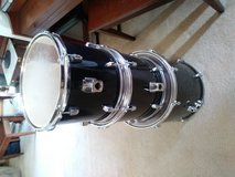 Wooden Shell PDP Drum Tom Set with black wrap! in Joliet, Illinois