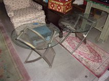 Set of Two Glass Top End Tables in Fort Riley, Kansas