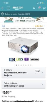 EUG 1080p led projector in Fort Carson, Colorado