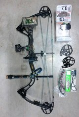 Left Hand New Breed Genetix compound bow 60 lbs. package set-up in Fort Leonard Wood, Missouri