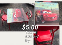 Disney Cars Table & Chaira in Plainfield, Illinois