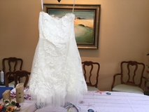 Gorgeous Short Lace Cocktail or Wedding Dress.  HB Studio -Size 4. Cream color in Conroe, Texas