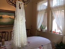 Handkerchief design lace Cocktail or Wedding Dress by Scott McClintock. in Conroe, Texas