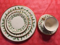 Antique Lenox Holiday China, 4 5-piece place settings in Plainfield, Illinois