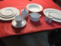 Nikko White Lace Fine China - 8 place settings plus serving dishes in Plainfield, Illinois