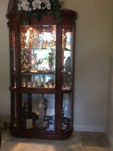 Large Curved End Cherry Curio in Conroe, Texas