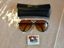 Vintage Ambervision Aviator Sunglasses Blue Max Rare frame, good condition 80's in Glendale Heights, Illinois