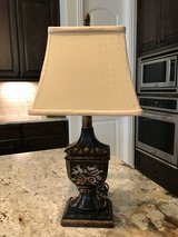 Lamp #1---Black with Cream Shade in Spring, Texas