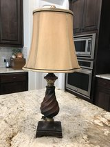 Lamp #3---Brown and Gold with Champagne Shade in Kingwood, Texas