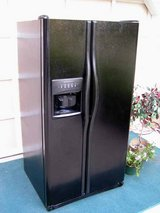 Refrigerator- Side By Side-Water and ice in door-Black-Frigidaire in Macon, Georgia