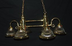 Ornate Shiny Brass Ceiling Light Fixtures ~ Matching Set Large & Small in Aurora, Illinois