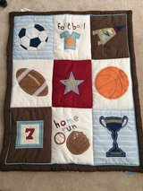 Sports themed wall hanging in Wilmington, North Carolina