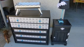dresser/night stand/lamp-serving tray in Yucca Valley, California