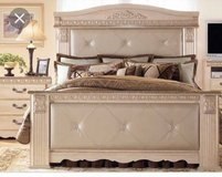Ashley Signature Design King Bed with Night Stands and Matrress/Box Springs in Pearland, Texas