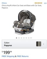 Chicco infant car seat in Okinawa, Japan