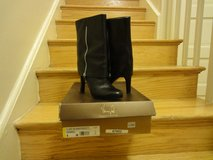 Authentic Black Franco Sarto Calf length booties in Fort Belvoir, Virginia