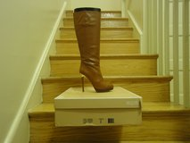 "Authentic ""never worn"" Luggage Michael Kors boots in Fort Belvoir, Virginia"