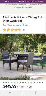 Brand new patio table with 2 chairs in Naperville, Illinois