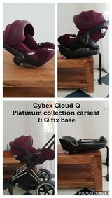 Cybex Cloud Q Platinum collection carseat & base in Ramstein, Germany