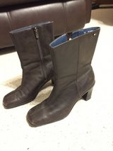Short Brown boots by Tommy Hilfiger - Leather Upper in Naperville, Illinois
