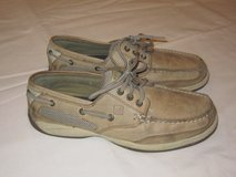 SPERRY TOP SIDER BOAT SHOES Three Eye Women Size 7.5 Tan Color in Chicago, Illinois