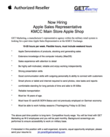 Apple Representative for Shop in Shop at KMCC Ramstein in Ramstein, Germany