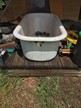 Antique porcelain claw foot tub in Beaufort, South Carolina