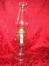 "Vintage, 18"" tall, Clear Glass HURRICANE OIL or KEROSENE LAMP in Orland Park, Illinois"