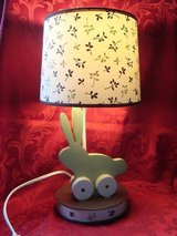 Baby Nursery Child Bedroom Bunny Rabbit Bedside Electric Lamp Woodland Tones in Orland Park, Illinois