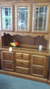 Oak hutch in Bolingbrook, Illinois