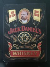 TIN BOX DESIGNED TO MAIL WHISKEY FOR THE JACK DANIEL DISTILLERY. in Fort Knox, Kentucky
