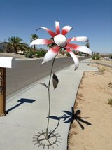 custom welded flowers art for your lawn and garden in 29 Palms, California