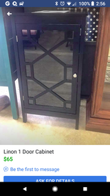 Linon small black cabinet in Fort Campbell, Kentucky
