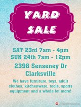 Multi-Family Yard Sale this weekend in Fort Campbell, Kentucky