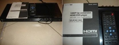 UBX AD653 HDMI DVD Player with Remote Control in Stuttgart, GE