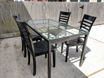 Glass & Iron table with chairs in Spring, Texas