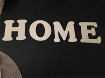 Wood letters for crafts:  spell out HOME in Chicago, Illinois