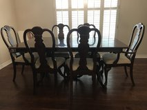 Solid Wood Dining Set: Table + 6 chairs + Server Cabinet in Kingwood, Texas