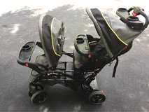 sit n stand double stroller baby trend in Bolingbrook, Illinois
