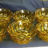 Amber colored glass bowls in Clarksville, Tennessee