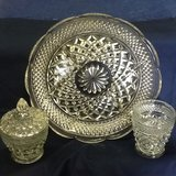 Cut glassware 3 pieces in Clarksville, Tennessee