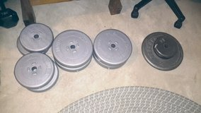 About 100 lbs of weights in Oswego, Illinois